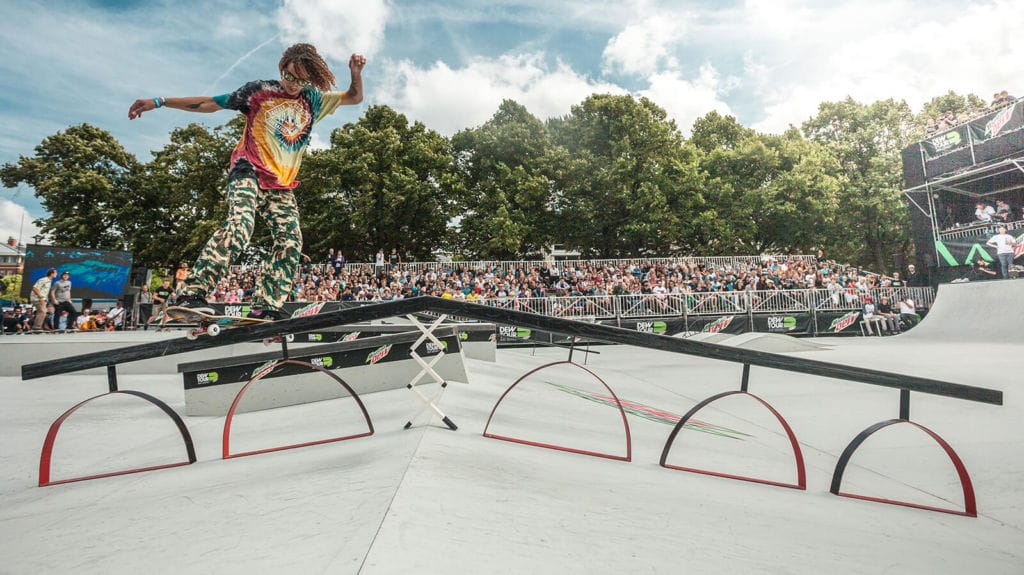 Dew Tour AM series: skaters taking over Museum Square